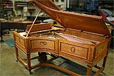 Side view of German Steinway Art Case grand piano