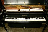 Chickering console piano used by Harry Warren showing restored components