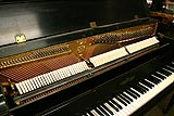 Chickering console piano used by Harry Warren restored close-up
