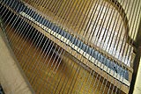 Defective bridge notching to be fixed during piano restoration