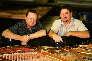 Certified piano repair technicians and Precision Piano Services owners, Giovanni and Franco Skilan