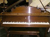 Restored Steinway and Sons 501A Walnut grand piano