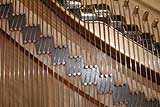 Steinway and Sons grand piano treble bridge section restored