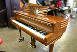 Wurlitzer Butterfly baby grand piano in for restringing and action components